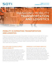 Managing Mobility for T&L brochure