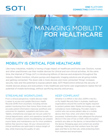 SOTI MobiControl for Healthcare brochure